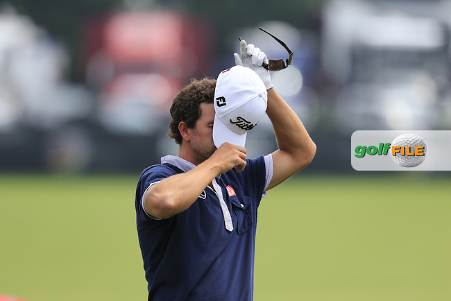 Adam Scott (AUS) signs autographs for fans during Wednesday's Practice Day of the 2013 Bridgestone Invitational WGC tournament held at the Firestone Country Club, Akron, Ohio. 31st July 2013.<br /> Picture: Eoin Clarke www.golffile.ie