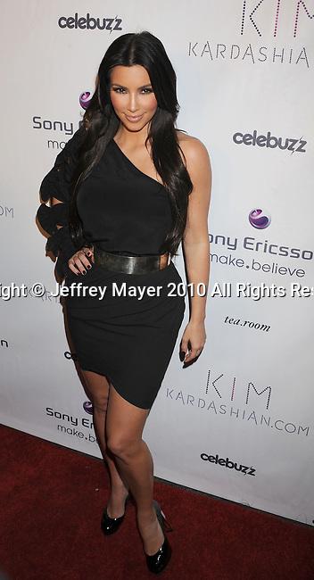 HOLLYWOOD, CA. - June 25: Kim Kardashian arrives to the Kim Kardashian's Website Relaunch Celebration at the Tea Room on June 25, 2010 in Hollywood, California.