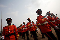 "Ghanaians military parade within the official celebrations of  the 50th anniversary of their countries' independence in ""independence square"" in Accra, Ghana on tuesday March 06 2007..."