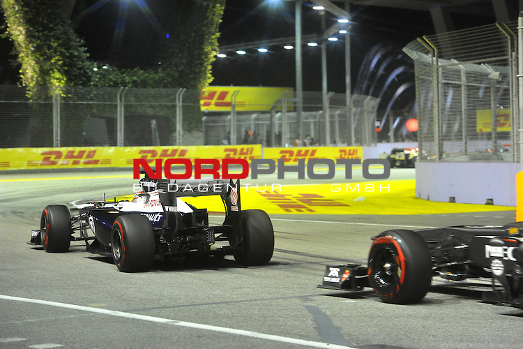 19.-22.09.2013, Marina-Bay-Street-Circuit, Singapur, SIN, F1, Grosser Preis von Singapur, Singapur, DHL Branding - Pastor Maldonado (VEN) Williams GP <br />  Foto &copy; nph / Mathis