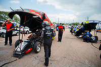 Apr 22, 2017; Baytown, TX, USA; NHRA funny car driver Jonnie Lindberg during qualifying for the Springnationals at Royal Purple Raceway. Mandatory Credit: Mark J. Rebilas-USA TODAY Sports