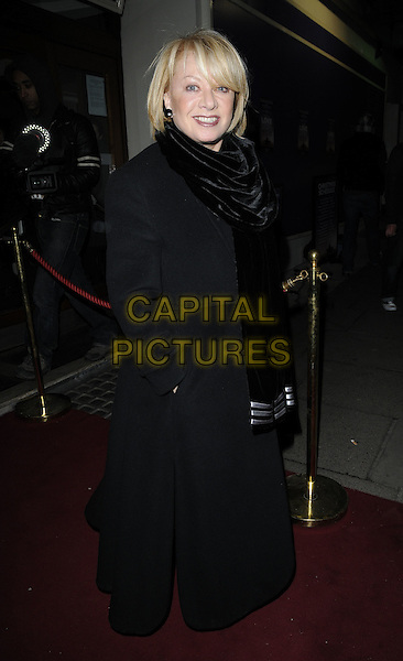 "ELAINE PAIGE .At the ""Love Story"" Press Night, Duchess Theatre, Catherine Street, London, England, UK, 6th December 2010..full length black coat scarf .CAP/CAN.©Can Nguyen/Capital Pictures."