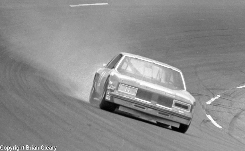 A. J. Foyt turn 4 action 125 mile qualifying race  at Daytona International Speedway in Daytona Beach, FL on February  1984. (Photo by Brian Cleary/www.bcpix.com)