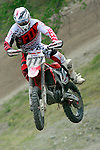 Russia's Evgeny Bobryshev rides during the  MXGP World Championship Motocross at Pietramurata, Italy on April 13, 2014.