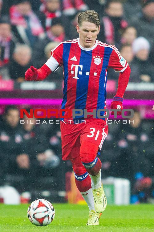 27.02.2015, Allianz Arena, Muenchen, GER, 1.FBL,  FC Bayern Muenchen vs. 1. FC Koeln, im Bild Bastian Schweinsteiger (FCB #31) <br /> <br />  Foto &copy; nordphoto / Straubmeier