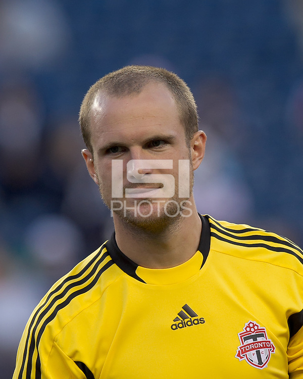 Toronto FC goalkeeper Stefan Frei (24). In a Major League Soccer (MLS) match, the New England Revolution tied Toronto FC, 0-0, at Gillette Stadium on June 15, 2011.