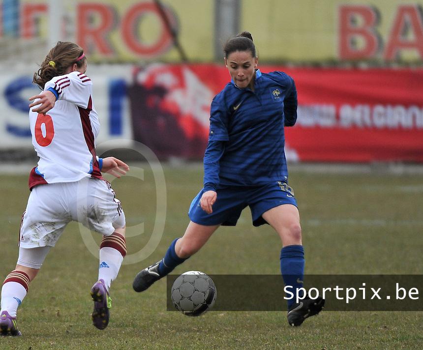 France U19 - Russia U19 : Charlène Gorce.foto DAVID CATRY / Nikonpro.be