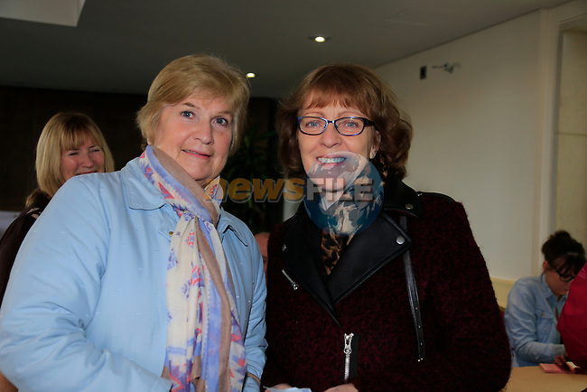 Carol Downes and Mary Caffrey at the pancake tuesday fundraiser for the Gary Kelly centre int eh D Hotel.<br /> Picture Fran Caffrey / Newsfile