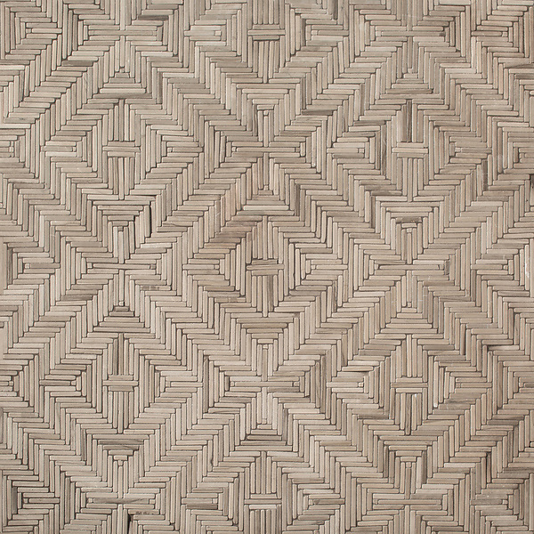 Rattan, a hand-cut tumbled mosaic, shown in Driftwood, is part of the Tissé® collection for New Ravenna.