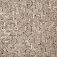 Rattan, a hand-cut tumbled mosaic, shown in Driftwood, is part of the Tissé™ collection for New Ravenna.