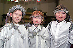 Emma Callan, Grace Goughran and Margaret Loughran who took part in the Nativity play in Phillipstown School.Picture Paul Mohan Newsfile