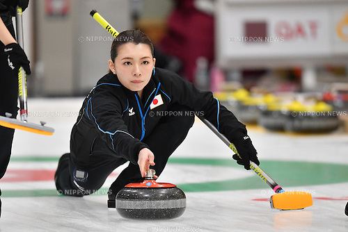 Mari Motohashi (JPN), <br /> FEBRUARY 20, 2017 -Curling : <br /> Women's Round Robin match between<br /> Japan 5-7 Korea <br /> during the 2017 Sapporo Asian Winter Games <br /> at Sapporo Curling Stadium in Hokkaido, Japan. <br /> (Photo by AFLO SPORT)