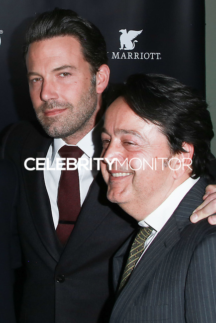 HOLLYWOOD, LOS ANGELES, CA, USA - NOVEMBER 07: Ben Affleck, Len Amato arrives at HBO's 'Project Greenlight' Season 4 Winner Announcement held at Boulevard3 on November 7, 2014 in Hollywood, Los Angeles, California, United States. (Photo by David Acosta/Celebrity Monitor)