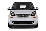 Car photography straight front view of a 2017 Smart fortwo prime 3 Door micro car