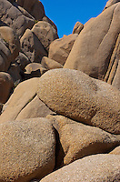 Nature's abstract and amazingly designed rock formations at the Joshua Tree National Park in Southern California.