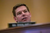 United States Representative Eric Swalwell (Democrat of California) speaks during the United States House Committee on the Judiciary hearing with constitutional law experts Noah Feldman, of Harvard University, Pamela Karlan, of Stanford University, Michael Gerhardt, of the University of North Carolina, and Jonathan Turley of The George Washington University Law School on Capitol Hill in Washington D.C., U.S. on Wednesday, December 4, 2019.<br /> <br /> Credit: Stefani Reynolds / CNP