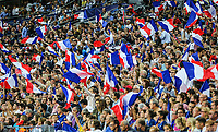 France supporters during the International Friendly match between France and England at Stade de France, Paris, France on 13 June 2017. Photo by David Horn/PRiME Media Images.