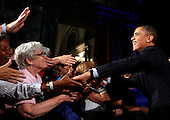 United States President Barack Obama greets supporters during a Democratic Party fundraiser at the Chicago Cultural Center, Thursday, August 5, 2010 in Chicago, Illinois. Earlier in the day Obama visited a Ford motor company Chicago assembly plant and attended a fund raiser for U.S. Senate Candidate Alexi Giannoulias. .Credit: Jeff Haynes - Pool via CNP