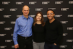 "Daniel Jenkins, Kathryn Erbe and Christopher Livingston during the Photo Call for the Roundabout Theatre Production of ""Something Clean"" at the Roundabout Theatre Company Rehearsal Studios on April 11, 2019 in New York City."