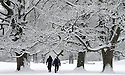 21/01/13..Heavy overnight snow, leaves the estate around Chatsworth House looking like a winter wonderland, in The Peak District, near Bakewell, Derbyshire. ..All Rights Reserved - F Stop Press.  www.fstoppress.com. Tel: +44 (0)1335 300098.