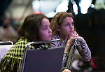 First Lady Anita Perry's nieces listen attentively to Doris Kearns Goodwin at the Eleventh Annual Texas Conference for Women
