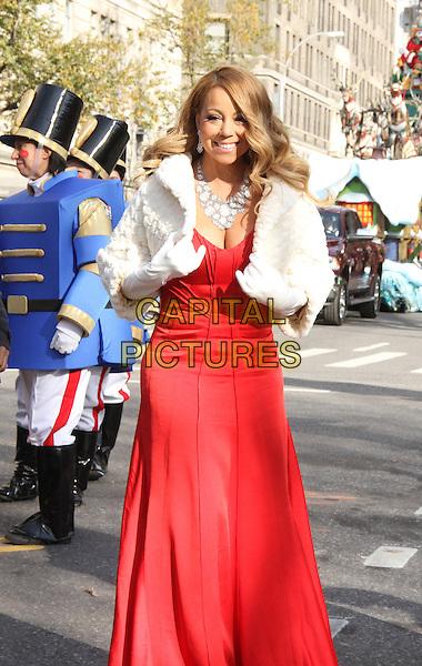 NEW YORK, NY - NOVEMBER 26: Mariah Carey at the 89th Annual Macy's Thanksgiving Day Parade in New York City on November 26, 2015. <br /> CAP/MPI/RW<br /> &copy;RW/MPI/Capital Pictures