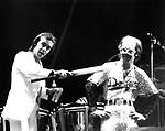Elton John 1975 with Bernie Taupin at Godger Stadyum.© Chris Walter.