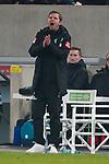 18.01.2020, Merkur Spielarena, Duesseldorf , GER, 1. FBL,  Fortuna Duesseldorf vs. SV Werder Bremen,<br />  <br /> DFL regulations prohibit any use of photographs as image sequences and/or quasi-video<br /> <br /> im Bild / picture shows: <br /> Florian Kohfeldt Trainer / Headcoach (Werder Bremen) steht <br /> <br /> Foto © nordphoto / Meuter