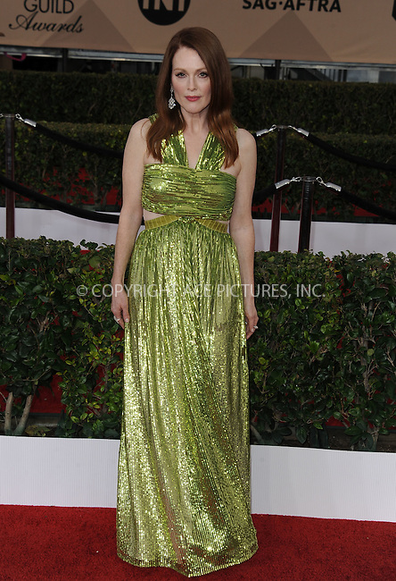 WWW.ACEPIXS.COM<br /> <br /> January 30 2016, LA<br /> <br /> Julianne Moore arriving at the 22nd Annual Screen Actors Guild Awards at the Shrine Auditorium on January 30, 2016 in Los Angeles, California<br /> <br /> By Line: Peter West/ACE Pictures<br /> <br /> <br /> ACE Pictures, Inc.<br /> tel: 646 769 0430<br /> Email: info@acepixs.com<br /> www.acepixs.com