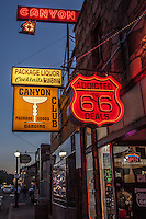 Neon sign for the Canyon Club in Willians Arizona, on Route 66.
