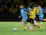 Manchester City defender Aleksandar Kolarov (l) during an attack of City against Borussia Dortmund at the 2016 International Champions Cup China match at the Shenzhen Stadium on 28 July 2016 in Shenzhen, China. Photo by Marcio Machado / Power Sport Images