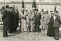 Iraq 1960? <br /> Mustafa Barzani welcoming officials with his son Masoud Barzani, 5th left  <br /> Irak 1960? <br /> Mustafa Barzani recevant des officiels irakiens avec son fils Masoud Barzani, 5eme a gauche