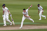 Henry Brookes in bowling action for Warwickshire during Warwickshire CCC vs Essex CCC, Specsavers County Championship Division 1 Cricket at Edgbaston Stadium on 12th September 2019