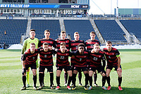 Chester, PA - Sunday December 10, 2017: Stanford University Starting Eleven during the NCAA 2017 Men's College Cup championship match between the Stanford Cardinal and the Indiana Hoosiers at Talen Energy Stadium.