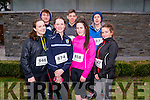 Front L-R Shauna O'Donoghue, Leone Mc Enery, Joanne Mc Carthy and Lorraine Hanrahan, Back L-R Shey Walsh, Jack Lynch and James Brosnan from Joint Transition Year Class Presentation and St Patricks School in Castleisland at the Good Friday 5 miles run in Killarney last Friday.
