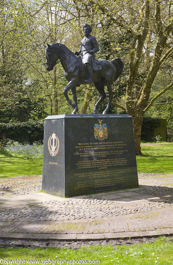 Duleep Singh Sikh statue, Thetford, Norfolk, England