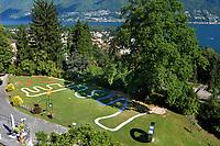 Svizzera, Canton Ticino, Ascona, Monte Verità, panorama sul lago Maggiore, Hotel  Monte Verità,