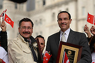 October 2, 2011  (Washington, DC)  District of Columbia Mayor Vincent Gray (right) and Ankara, Turkey, Mayor Melih Gökcek during the Turkish Festival in Washington.    (Photo by Don Baxter/Media Images International)