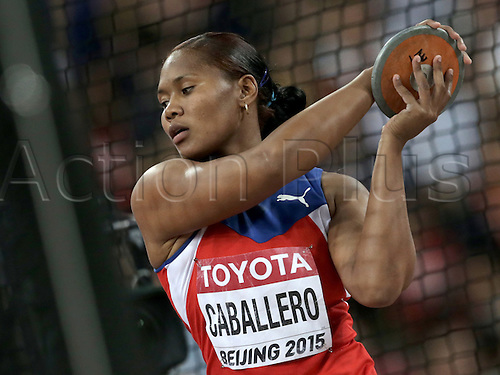 25.08.2015. Beijing, China.  Denia Caballero of Cuba in action during the women's Discus Throw final of the Beijing 2015 IAAF World Championships at the National Stadium, also known as Bird's Nest, in Beijing, China, 25 August 2015.