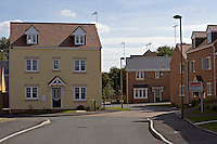 Newly built homes for sale on new housing estate Banbury Oxfordshire UK..©shoutpictures.com..john@shoutpictures.com