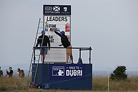 The moment Brandon Stone (RSA) went top of the leaderboard during the Final Round of the ASI Scottish Open 2018, at Gullane, East Lothian, Scotland.  15/07/2018. Picture: David Lloyd | Golffile.<br /> <br /> Images must display mandatory copyright credit - (Copyright: David Lloyd | Golffile).