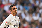 Cristiano Ronaldo of Real Madrid reacts during their La Liga match between Real Madrid CF and SD Eibar at the Santiago Bernabéu Stadium on 02 October 2016 in Madrid, Spain. Photo by Diego Gonzalez Souto / Power Sport Images