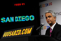 U.S. Soccer President and USA Bid Committee Chairman Sunil Gulati announces San Diego as one of the 18 cities to be submitted to FIFA as part of the bid to host the 2018 or 2022 FIFA World Cup at the ESPN Zone in Times Square, NYC, NY, on January 12, 2010.