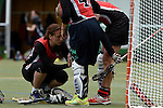 GER - Hannover, Germany, May 30: During the Women Lacrosse Playoffs 2015 match between DHC Hannover (black) and SC Frankfurt 1880 (red) on May 30, 2015 at Deutscher Hockey-Club Hannover e.V. in Hannover, Germany. Final score 23:3. (Photo by Dirk Markgraf / www.265-images.com) *** Local caption *** Sarah Bailly #5 of SC 1880 Frankfurt
