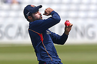 Mohammad Amir of Essex warms up with the pink ball during Essex CCC vs Middlesex CCC, Specsavers County Championship Division 1 Cricket at The Cloudfm County Ground on 26th June 2017