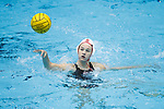INDIANAPOLIS, IN - MAY 14: Jordan Raney (7) of Stanford University passes the ball during the Division I Women's Water Polo Championship against UCLA held at the IU Natatorium-IUPUI Campus on May 14, 2017 in Indianapolis, Indiana. Stanford edges UCLA, 8-7, to win fifth women's water polo title in the past seven years. (Photo by Joe Robbins/NCAA Photos/NCAA Photos via Getty Images)