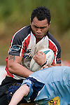 Taiasina Tuifua tries to fend off Brad Taylor. Air New Zealand Cup pre-season rugby game between the Counties Manukau Steelers & Northland, played at Growers Stadium on July 21st, 2007. Counties Manukau won 28 - 17.