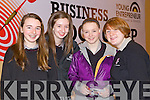 Students from Killarney Community College, pictured at the Young Entrepreneur Business Boot Camp in the Brandon Hotel, Tralee on Friday, from left: Brid Kerrisk, Aine O'Connor, Shauna McCarthy and Ruth Carey.