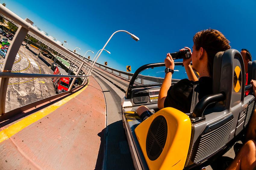 Test Track ride, Epcot, Walt Disney World, Orlando, Florida USA