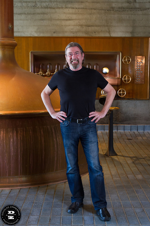 Keith Greggor, president and CEO of Anchor Brewers & Distillers at the brewing kettles at the Anchor Steam brewery in San Francisco, Calif.